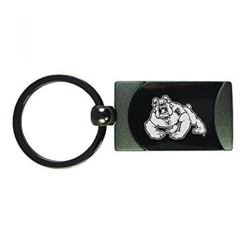 Fresno State -Two-Toned Gun Metal Key Tag-Gunmetal