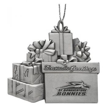 Saint Bonaventure University - Pewter Gift Package Ornament