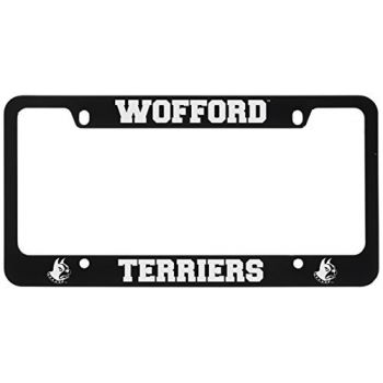 Wofford College-Metal License Plate Frame-Black