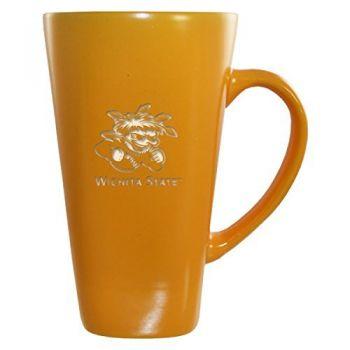 Wichita State University -16 oz. Tall Ceramic Coffee Mug-Gold