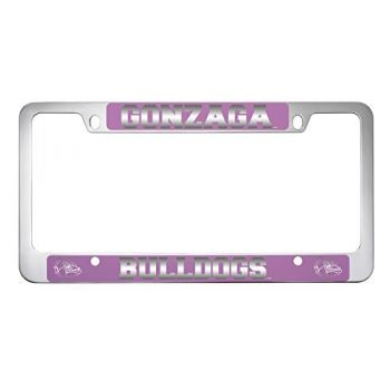 Gonzaga University -Metal License Plate Frame-Pink