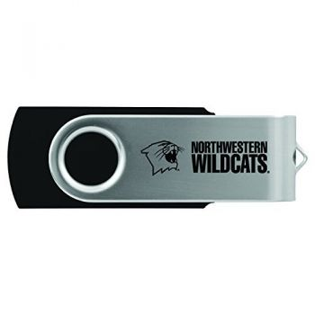 Northwestern University -8GB 2.0 USB Flash Drive-Black
