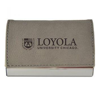 Velour Business Cardholder-Loyola University Chicago-Grey