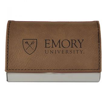 Velour Business Cardholder-Emory University-Brown