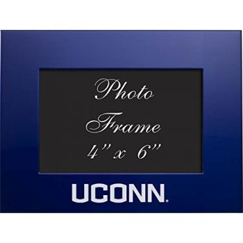 University of Connecticut - 4x6 Brushed Metal Picture Frame - Blue