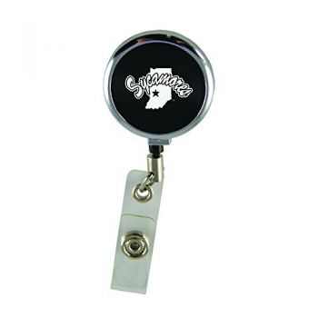 Indiana State University-Retractable Badge Reel-Black