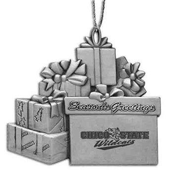 Cal State University Chico - Pewter Gift Package Ornament