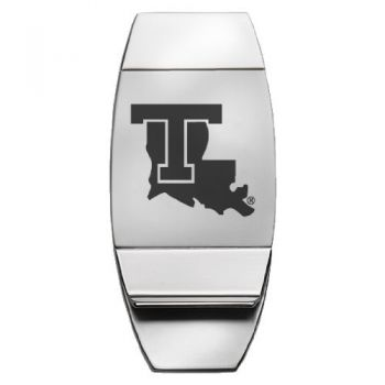 Louisiana Tech University - Two-Toned Money Clip - Silver