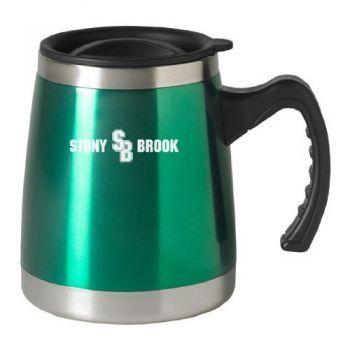 Stony Brook University - 16-ounce Squat Travel Mug Tumbler - Green