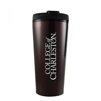 College of Charleston-16 oz. Travel Mug Tumbler-Burgundy