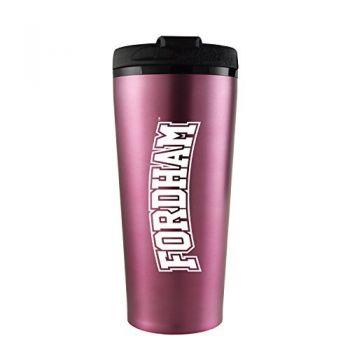 Fordham University-16 oz. Travel Mug Tumbler-Pink