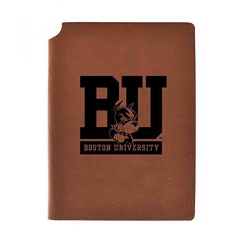 Boston University Velour Journal with Pen Holder|Carbon Etched|Officially Licensed Collegiate Journal|