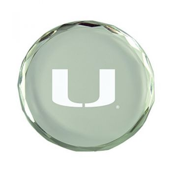 University of Miami-Crystal Paper Weight