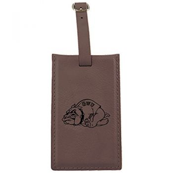 Gardner-Webb University-Leatherette Luggage Tag-Brown