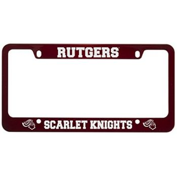 Rutgers University -Metal License Plate Frame-Red