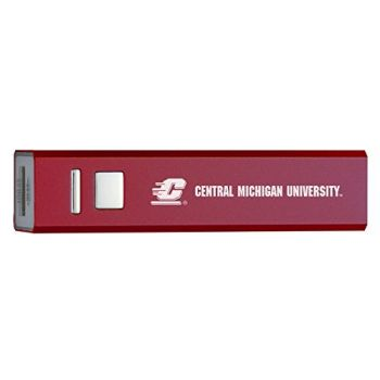 Central Michigan University - Portable Cell Phone 2600 mAh Power Bank Charger - Burgundy