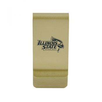 University of Illinois |Money Clip with Contemporary Metals Finish|Solid Brass|High Tension Clip to Securely Hold Cash, Cards and ID's|Silver