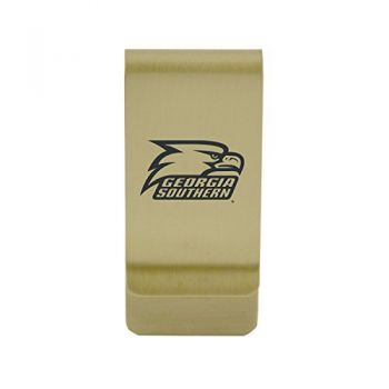 Gardner-Webb University|Money Clip with Contemporary Metals Finish|Solid Brass|High Tension Clip to Securely Hold Cash, Cards and ID's|Silver