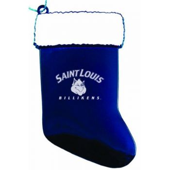 Saint Louis University - Christmas Holiday Stocking Ornament - Blue