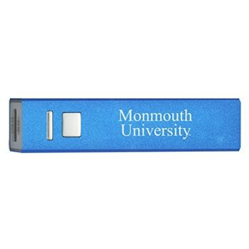 Monmouth University - Portable Cell Phone 2600 mAh Power Bank Charger - Blue