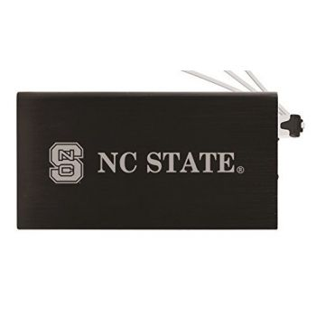 8000 mAh Portable Cell Phone Charger-North Carolina State University -Black