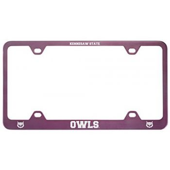 Kennesaw State University -Metal License Plate Frame-Pink