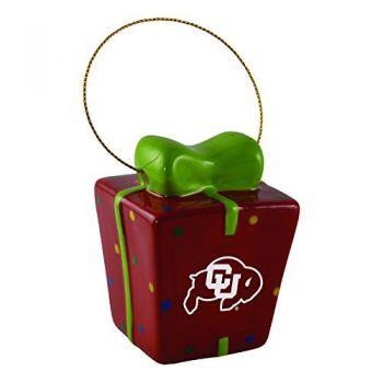 University of Colorado-3D Ceramic Gift Box Ornament