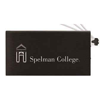 8000 mAh Portable Cell Phone Charger-Spelman College -Black