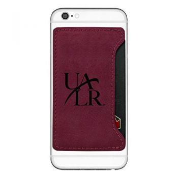 University of Arkansas At Little Rock-Cell Phone Card Holder-Burgundy