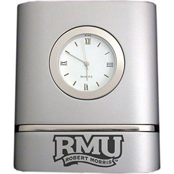 Robert Morris University- Two-Toned Desk Clock -Silver
