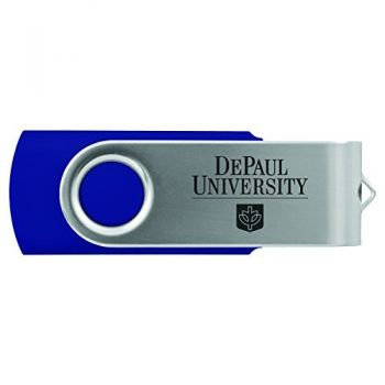 DePaul University -8GB 2.0 USB Flash Drive-Blue