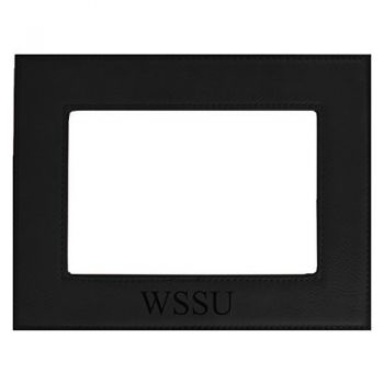 Winston-Salem State University-Velour Picture Frame 4x6-Black