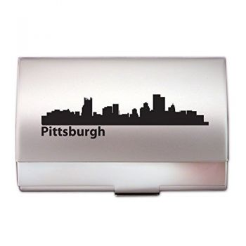 Business Card Holder Case - Pittsburgh City Skyline