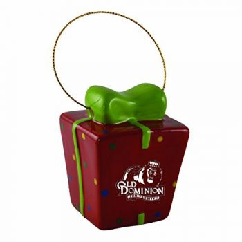 Old Dominion University-3D Ceramic Gift Box Ornament