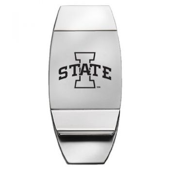 Iowa State University - Two-Toned Money Clip - Silver