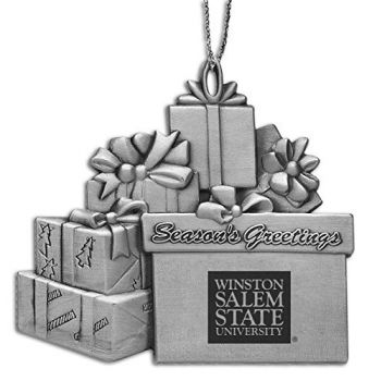Winston-Salem State University - Pewter Gift Package Ornament