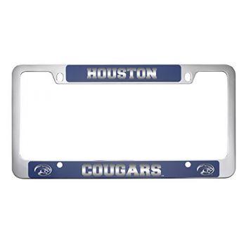 University of Houston-Metal License Plate Frame-Blue