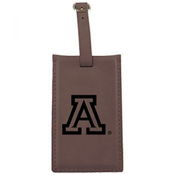 Arizona Wildcats -Leatherette Luggage Tag-Brown