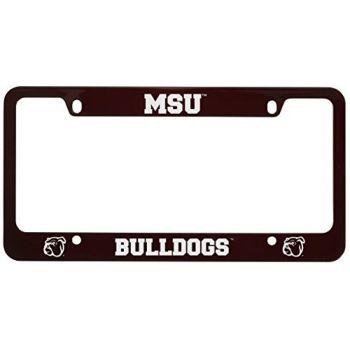 Mississippi State University -Metal License Plate Frame-Burgundy