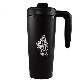 Rider University -16 oz. Travel Mug Tumbler with Handle-Black