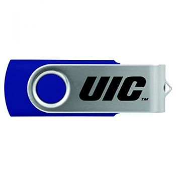 University of Illinois at Chicago-8GB 2.0 USB Flash Drive-Blue