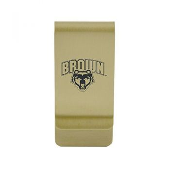 Bradley University|Money Clip with Contemporary Metals Finish|Solid Brass|High Tension Clip to Securely Hold Cash, Cards and ID's|Silver