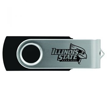Illinois State University-8GB 2.0 USB Flash Drive-Black