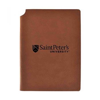 Saint Peter's University Velour Journal with Pen Holder|Carbon Etched|Officially Licensed Collegiate Journal|