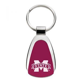 Mississippi State Univerty - Teardrop Keychain - Burgundy