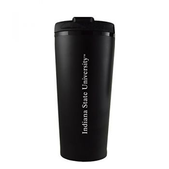 Indiana State University -16 oz. Travel Mug Tumbler-Black