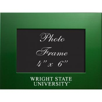 Wright State University - 4x6 Brushed Metal Picture Frame - Green
