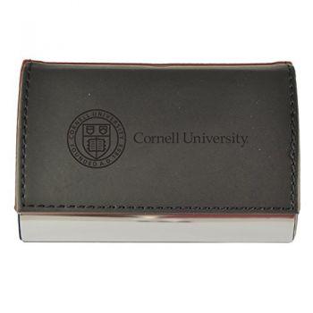 Velour Business Cardholder-Cornell University-Black