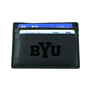 Brigham Young University-European Money Clip Wallet-Black