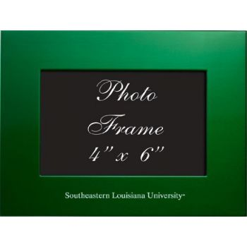 Southeastern Louisiana University - 4x6 Brushed Metal Picture Frame - Green